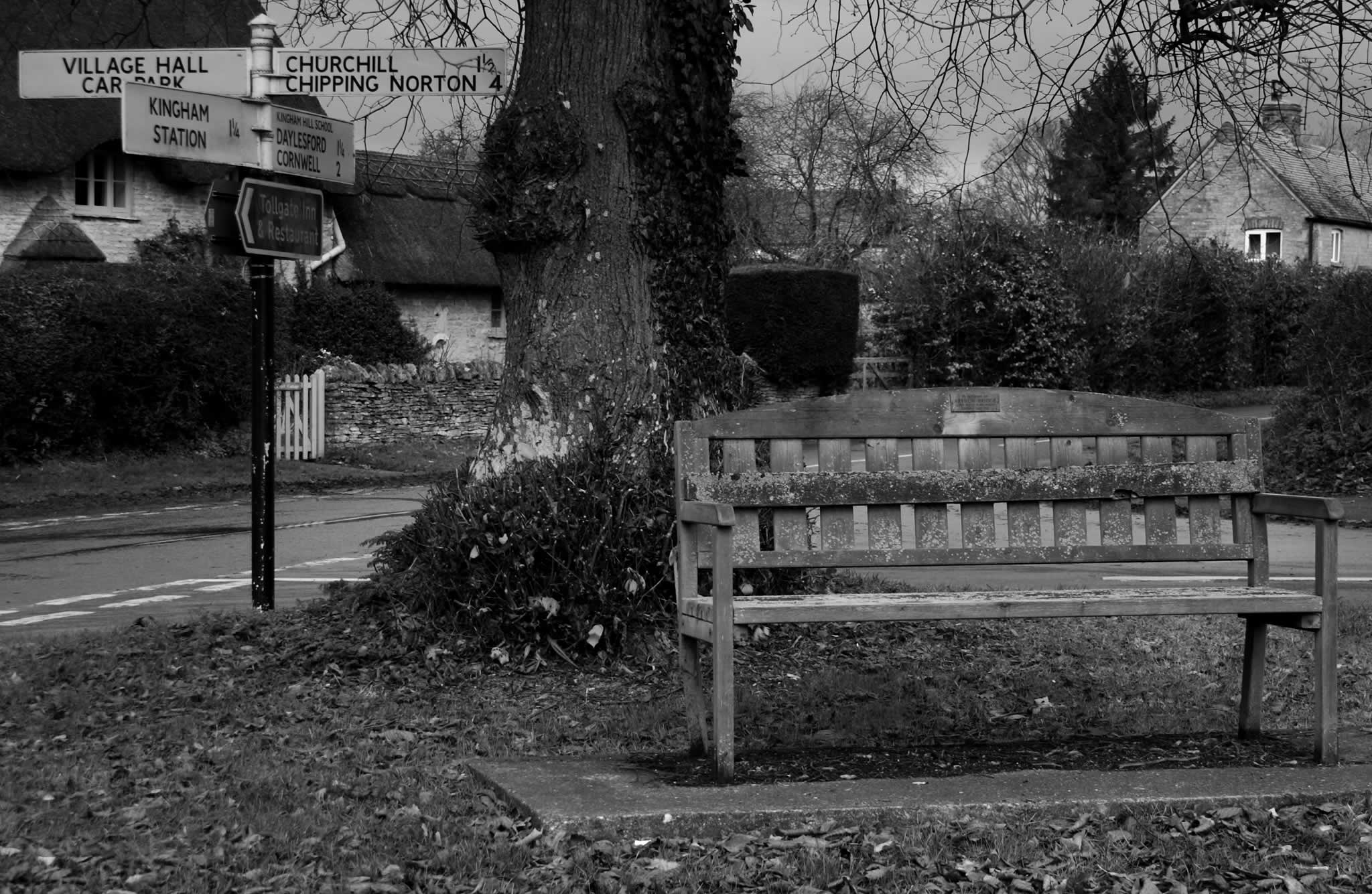 Bench in Kingham